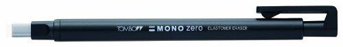 Tombow Mono Zero - Gomma di precisione a penna con punta rettangolare , 2 ricariche incluse, colore nero