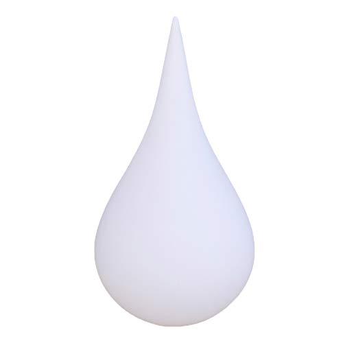 QILIN Lampada da Terra per Esterni, Lampada Modellante A Goccia d'Acqua, Lampada da Giardino, Lampada Decorativa per Paesaggio Impermeabile, Telecomando Intelligente, IP65, Bianco