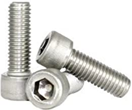 Hex Screw - Allen Screw - Socket Head Cap Screw - Stainless Steel (18-8) - M10-1.5 x 55mm (Quantity: 50), Drive: Hex Socket, Head: Cylindrical