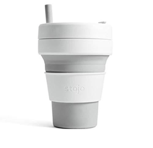 LIANYG Faltbares Silikon Tragbare Silikonkaffeetasse Multifunktionsklappbare Silikatasse Office Travel Essential