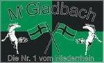Gladbach Nr.1 vom Niederrhein Fussball Fahne Flagge Grösse 1,50x0,90m - FRIP –Versand®