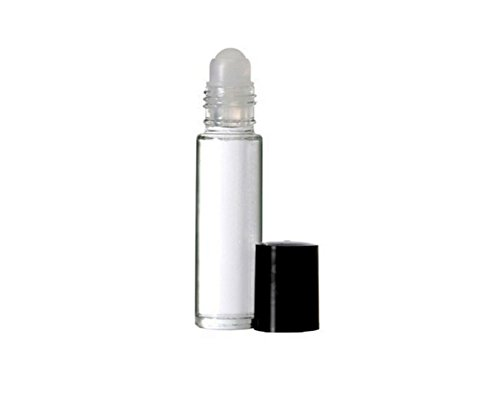 3PCS 10ml 0.34oz Leere nachfüllbare transparente Glasrolle auf Rollenflasche Phiole Containerhalter...