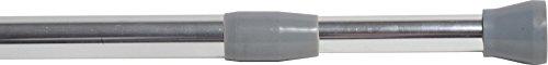Tendance EVIDECO Tringle à Rideau de Douche Ajustable/Extensible, Plastique, Chrome, 30 x 30 x 30 cm