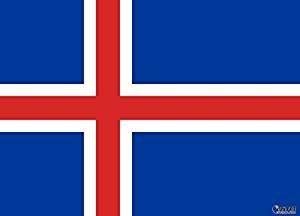 Runfon 90x150cm Island Flagge Fahne Island