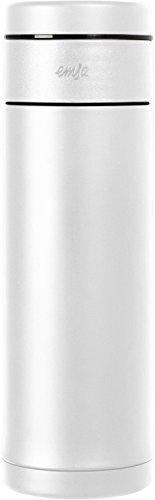 Emsa 515288 Tee Isolierbecher Mobility Slim, 0,32 Liter, 100 % dicht, 12 Stunden heiß und 24 kalt, integrierter Teefilter, weiß