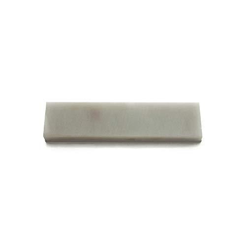 Piedra de afilar translúcida Arkansas (10,16 x 2,54 x 0,63 cm, con montaje de aluminio de grano estimado de 8.000 granos) para KME