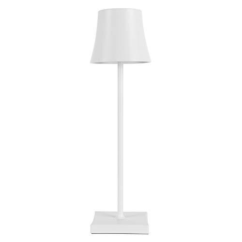 Pantalla de transmisión de luz IP54 impermeable 5200 mAh lámpara de escritorio LED lámpara de lectura lámpara antideslizante almohadilla de silicona, para pubs, para (blanco [atenuación táctil])
