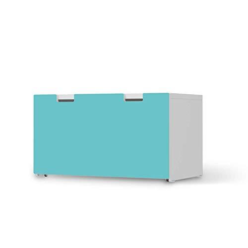creatisto Kinder Möbelfolie - passend für IKEA Stuva Banktruhe I Hochwertige Kinderzimmer Deko - Möbeldeko für Kinder- und Babyzimmer I Design: Türkisgrün Light