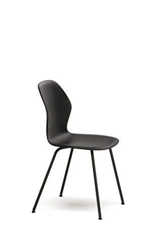 Preisvergleich Produktbild Sedus se:spot,  Vierfußstuhl,  Designstuhl,  Wohnzimmerstuhl,  schwarz,  Kunststoff,  855 mm