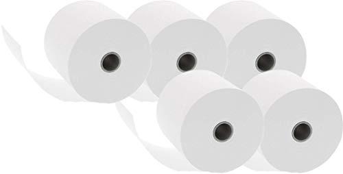 Additionsrollen (Ersatz-Papierrollen, geeignet für Kassen und druckende Tischrechner, 40 lfm, 100% Holzfrei, 57 x 12 mm) 10er Pack weiß