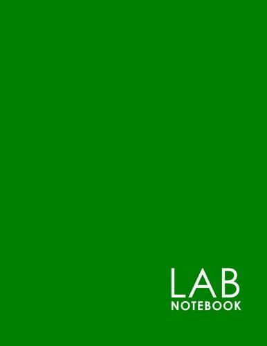 Lab Notebook: Laboratory Record Graph Note Book Diary for Primary Record of Research, Hypotheses, Experiments and Initial Analysis, Minimalist Green Cover
