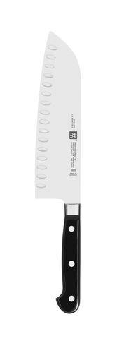 ZWILLING Santokumesser, Klingenlänge: 18 cm, Großes Klingenblatt, Rostfreier Spezialstahl/Kunststoff-Griff, Professional S