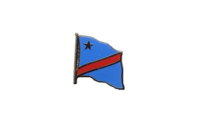 Flaggen-Pin/Anstecker Demokratische Republik Kongo vergoldet