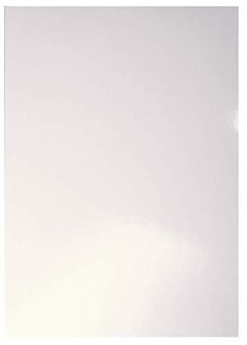 Leitz 33651 Deckblatt Hochglanz, A4, Karton, 100 Stück, weiß