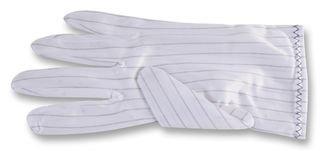 109-0916-Handschuhe, ESD, weiß, Polyester, Größe XL, Fingerhandschuhe