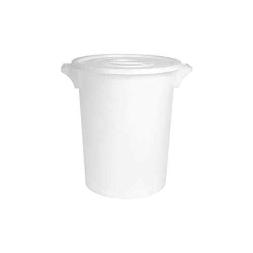 M-Plast Moser 840 Lebensmitteltonne mit Deckel, 2 Außengriffe, 50 L