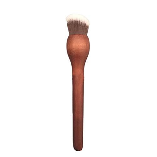 ZEYEU Pinceau à fond de teint plat pour mélanger les crèmes liquides ou poudres de maquillage pour polir, pointiller, anti-cernes
