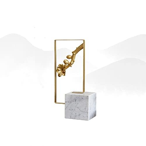 Nueva China Sala de Estar Zen Mesa de café bogu Rack Wine Cabinet Alloy Resin Marble Decoration Lamp Luxury Plum Blossom Porche Home Decoration