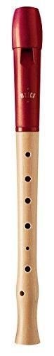 Moeck Blockflöte Flauto 1 Plus 1020 Ahorn, Kopf aus Kunststoff/rot