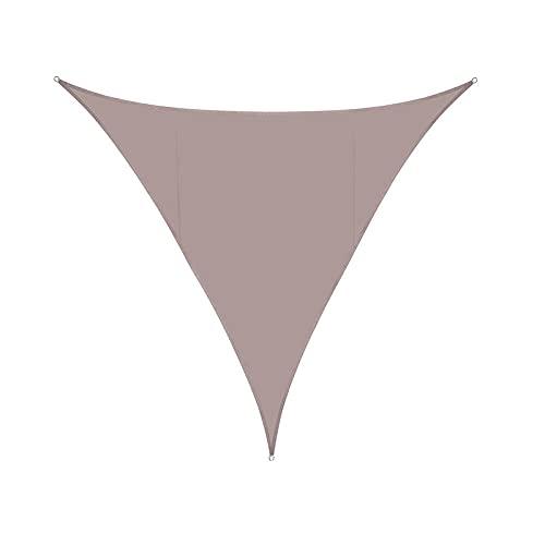 JKXWX Vela de Sombra Triangular Impermeable, Sombra Toldo Parasol Jardín Hecho Poliéster 95% Efecto Protector Solar, Impregnado PU Prueba Polvo Viento 3x3*4.3m Cuerda Libre