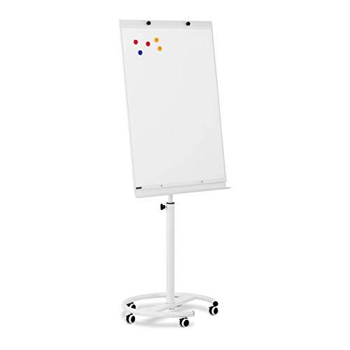 Fromm & Starck STAR_MFCM_02 Flipchart Flip Chart Whiteboard Flipchart mobil höhenverstellbar 70 x 100cm magnetisch höhenverstellbar 5 Rollen