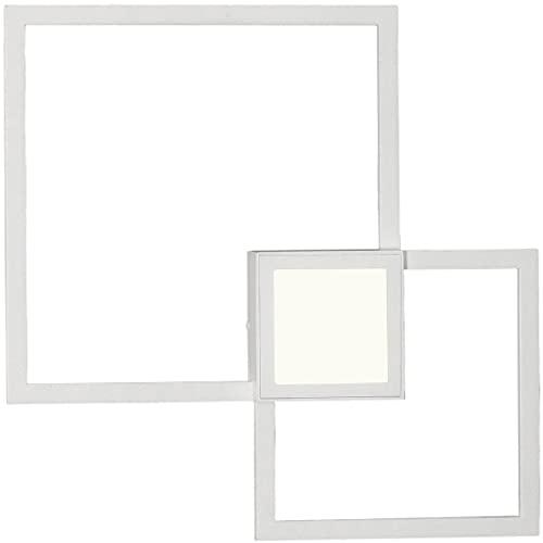 Mantra Iluminación. Modelo MURAL. Aplique cuadrado de pared fabricado en aluminio acabado en color blanco