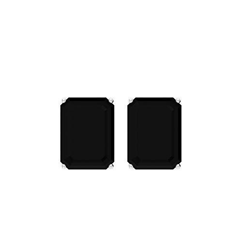 Pendientes Solitaire de 3,20 ct, certificado SGL, color negro, para mujer, declaración de cumpleaños, aniversario, estilo vintage, con piedras preciosas, tornillo hacia atrás