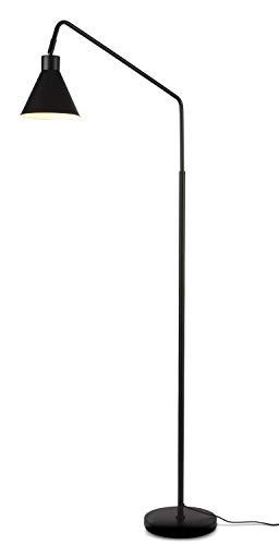it's about RoMi LYON Stehlampe, Stehleuchte für Wohnzimmer für Steckdose, E27, 40 Watt (Schwarz)