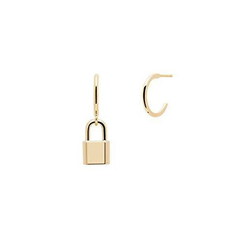 PDPAOLA - Pendientes Bond - Plata de Ley 925 Bañada en Oro de 18k - Joyas para Mujer