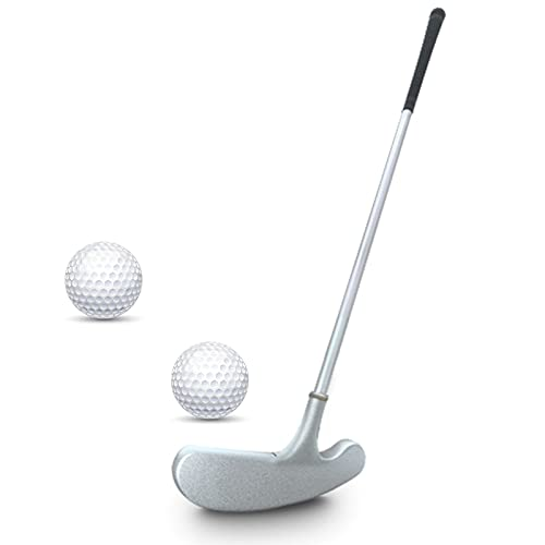 Golf Putter, Two Ways Golf Putters for Men Right Left Handed-Indoor Outdoor Mini Kids Club Golf Set in Sturdy Putter Shaft Grip with 2 Plastic Practice Golf Balls for any Putting Green Mat Home Office
