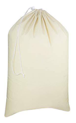 Product Image of the COTTON CRAFT - Extra Large Cotton Canvas Heavy Duty Laundry Bags - Natural Cotton - 28'x36' - Versatile - Multi Use
