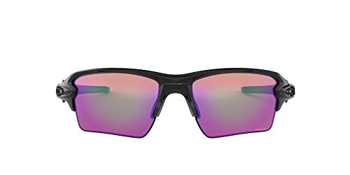 Oakley Herren Sonnenbrille Flak 2 Sunglasses, Schwarz (Polished Black/Prizmgolf), 59 mm