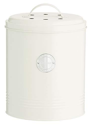 Typhoon Living - Kompostbehälter, pastellcreme, 2,5 Liter, 17,5 x 17,5 x 20 cm
