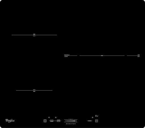 Whirlpool ACM 630/NE Negro Integrado Con - Placa (Negro, Integrado, Con placa de inducción, Vidrio, Tocar, Parte superior delantera)