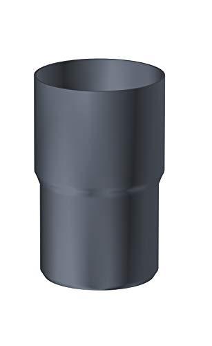 Fallrohrverbinder für Fallrohre DN 80 Aluminium anthrazit