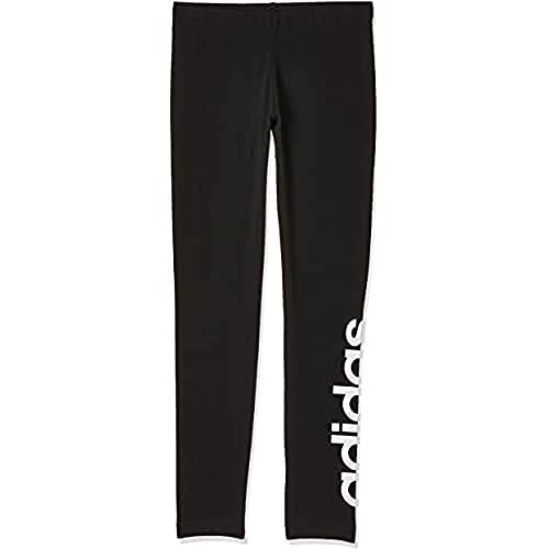 adidas Essential Linear Tight Girls Mallas, Niñas, Negro (Black/White), 11-12Y | 152