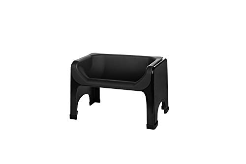 Fluff Trough Elevated Dog and Cat Bowl Feeding System with Silicone Bowl for Small to Medium Pets - Vet Approved, Food Safe, Non-Toxic, Dishwasher Safe, Perfect for Flat-Faced Pets, Black