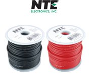 NTE Electronics WA14-00-20 Hook Up Wire, Automotive, Type 14 Gauge, Stranded, 20' Length, Black