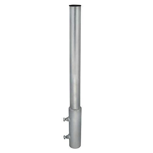 PremiumX Mastverlängerung 70 cm Ø 48 mm Stahl Mastaufsatz Antennenmast Verlängerung Sat-Mast-Halter mit Mastkappe