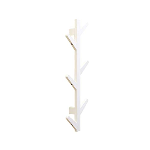 N\\C Schwimmendes Regal, Wandgarderobe, mit 6/8/10 Haken für Wohnzimmer und Schlafzimmer Dekorationsregal Modernes Design Bambus Kleidung Hut Aufbewahrungsregal