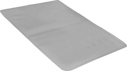 com-four® Gelkissen für bequemes einschlafen, multifunktionale Kühlmatte mit Kühlgel - Kisseneinlage für das Kopfkissen - 40 x 30 cm (01 Stück - Grau)