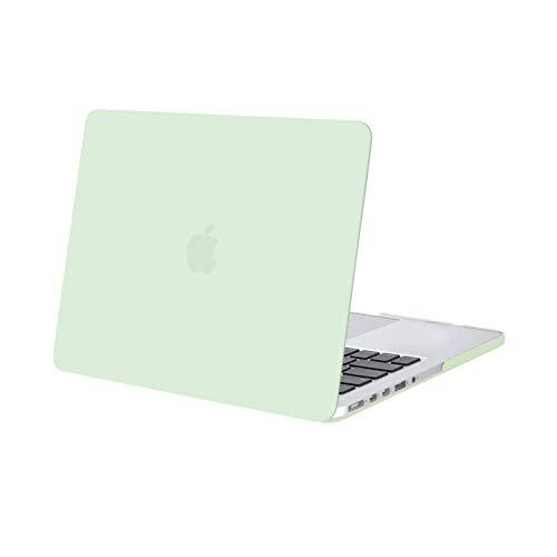 MOSISO Funda Dura Compatible con MacBook Pro 13 Retina A1502 / A1425 (Versión 2015/2014/2013/fin 2012), Ultra Delgado Carcasa Rígida Protector de Plástico Cubierta,Verde Honeydew