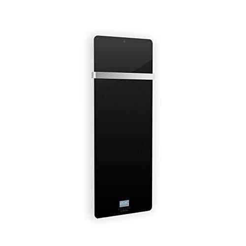 Klarstein Hot Spot Crystal IR hocheffizientes Infrarot-Heizpanel, programmierbarer Wochentimer, superflach, Thermostat, IR Comfort Heat, 45 x 120 cm Heizpanel für Räume bis 20 m², Glasschicht, schwarz