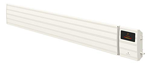 Noble Heat Panther Heizstrahler – 3200W 230V Dunkelstrahler Timer LED-Display Thermostat Fernbedienung – innen außen - weiß