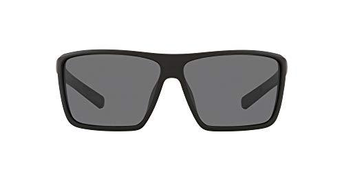 Native Eyewear Men's XD923 Wells XL Rectangular Sunglasses, Matte Black/Grey Polarized, 64 mm