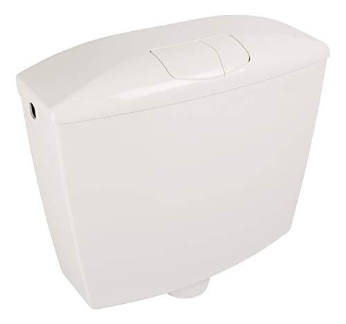 Sanitop-Ópalo de cisterna   Plastico   -9 litros   Cisterna   Botón de economía   WC, baño blanco