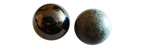 Cristal Atlante Tamaño de la Esfera de Shungita y Tulikivi, 3 cm de Ratio. Peso shungita: 40 gr. Peso Tulikivi: 60 gr.