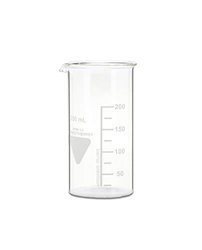 neoLab - Vaso de precipitado con boquilla Kimax Boro 3.3, de cristal, 250 mL, Transparente (transparente), 1