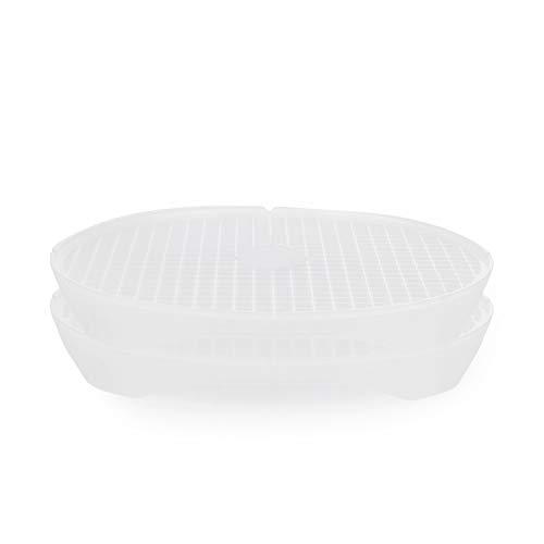 Börner Cuit-Chips kit de 2 Plateaux Inclus spécial Micro-Ondes : fabriquez Vos Chips de légumes sans Huile - Transparent