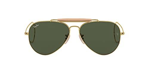 Ray-Ban Outdoorsman Oro-Verde Clásica G-15- Gafas de sol para hombre, montura en color dorado